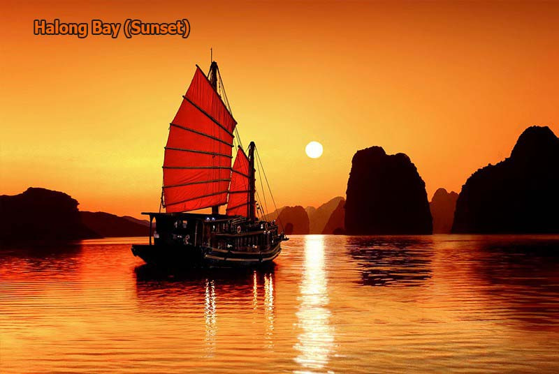 Halong Bay (sunset)