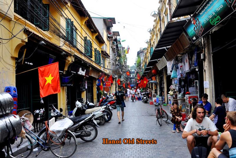 Hanoi old streets corner